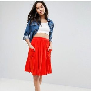 ASOS Jersey Midi Skirt with pockets